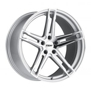 17x8 TSW Mechanica MATTE GUNMETAL W/MATTE BLACK FACE