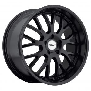 17x8 TSW Tremblant GLOSS BLACK W/MIRROR CUT LIP