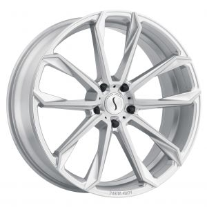 22x9.5 Status Mastadon SILVER W/BRUSHED MACHINE FACE
