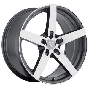 17x9 Mandrus Arrow Gunmetal w/ Mirror Cut Face (Rotary Forged)