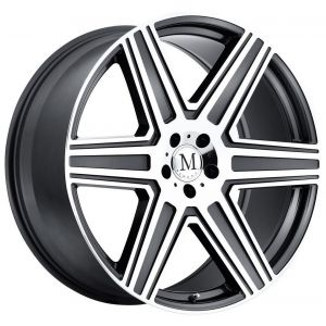 18x8.5 Mandrus Atlas Gunmetal w/ Mirror Cut Face