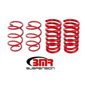 BMR 15-17 S550 Mustang Handling Version Lowering Springs (Set Of 4) - Red