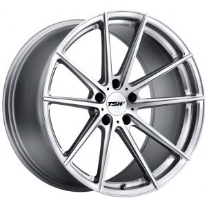 18x10.5 TSW Bathurst Silver w/Mirror Cut Face (Rotary Forged)