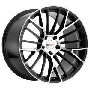 - Staggered full Set -(2) 19x9.5 Cray Astoria Gloss Black w/ Mirror Cut Face (Rotary Forged)(2) 19x10.5 Cray Astoria Gloss Black w/ Mirror Cut Face (Rotary Forged)
