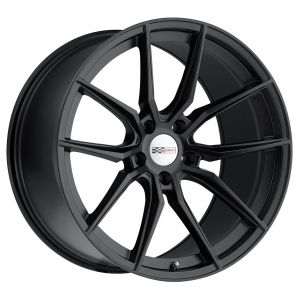 - Staggered full Set -(2) 20x11 Cray Spider Matte Black(2) 20x12 Cray Spider Matte Black