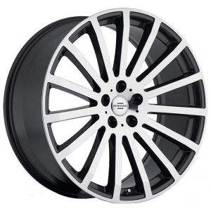 20x9.5 Redbourne Dominus Gloss Black w/ Mirror Cut Face