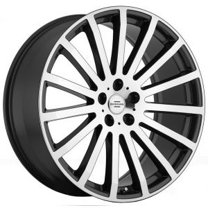 22x9.5 Redbourne Dominus Gunmetal w/ Mirror Cut Face