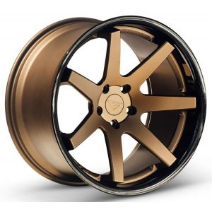 Staggered full Set - 20x9 Ferrada FR1 Matte Bronze w/ Gloss Black Lip 20x10.5 Ferrada FR1 Matte Bronze w/ Gloss Black Lip