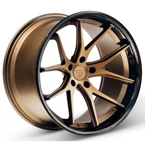 20x10 Ferrada FR2 Matte Bronze w/ Gloss Black Lip