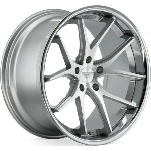 Staggered full Set - 20x10 Ferrada FR2 Machine Silver w/ Chrome Lip 20x11.5 Ferrada FR2 Machine Silver w/ Chrome Lip
