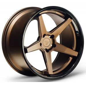 Staggered full Set - 20x10 Ferrada FR3 Matte Bronze w/ Gloss Black Lip 20x11.5 Ferrada FR3 Matte Bronze w/ Gloss Black Lip