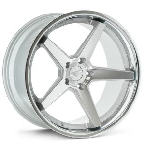 20x10 Ferrada FR3 Machine Silver w/ Chrome Lip