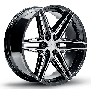 22x9.5 Ferrada FT4 Machine Black