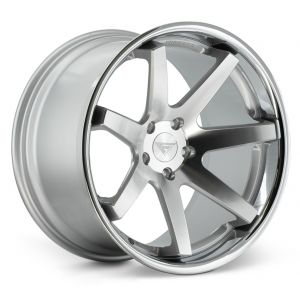 20x9 Ferrada FR1 Machine Silver w/ Chrome Lip