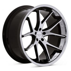 22x10.5 Ferrada FR2 Machine Black w/ Chrome Lip