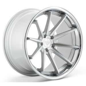 Staggered full Set - 20x10 Ferrada FR4 Machine Silver w/ Chrome Lip 20x11.5 Ferrada FR4 Machine Silver w/ Chrome Lip