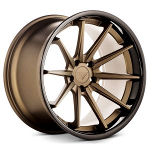 Staggered full Set - 20x10 Ferrada FR4 Matte Bronze w/ Gloss Black Lip 20x11.5 Ferrada FR4 Matte Bronze w/ Gloss Black Lip