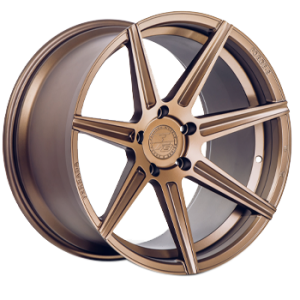 Staggered full Set - (2) 20x10.5 Ferrada Forge-8 FR7 Matte Bronze (Rotary Forged) (2) 20x12 Ferrada Forge-8 FR7 Matte Bronze (Rotary Forged)