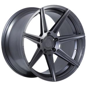 Staggered full Set - (2) 20x10.5 Ferrada Forge-8 FR7 Matte Graphite (Rotary Forged) (2) 20x12 Ferrada Forge-8 FR7 Matte Graphite (Rotary Forged)