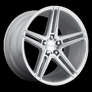 18x8 5x114.3 Niche Wheels M170 Turin Gloss Silver Machined 40 offset 72.56 hub
