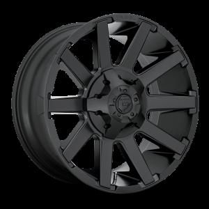 18x9 Fuel Offroad Wheels D437 Contra 5x139.7/5x150 1 Offset 110.1 Centerbore Satin Black