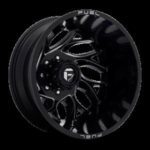 20x8.25 Fuel Offroad Wheels D741 Runner 8x200 -176 Offset 142.2 Centerbore Gloss Black