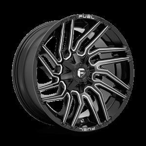 22x10 Fuel Offroad Wheels D773 Typhoon 8x165.1 -18 Offset 125.2 Centerbore Gloss Black
