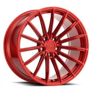 19x10 5x112 XO Wheels London Candy Red 42 offset 66.56 hub