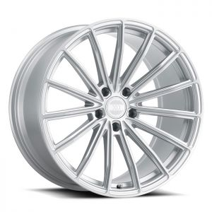 19x10 5x112 XO Wheels London Silver With Brushed Face 42 offset 66.56 hub