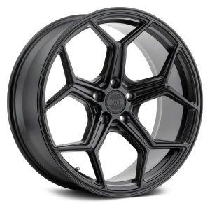 19x10 5x112 XO Wheels Helsinki Matte Black 42 offset 66.56 hub