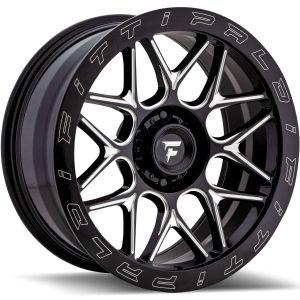 20x9 Fittipaldi Offroad Wheels FTF02 X-Trail 5x5 +06 Offset 71.5 Hub Black Milled