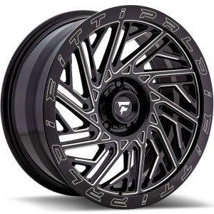 20x9 Fittipaldi Offroad Wheels FTF05 X-Trail 5x5 +06 Offset 71.5 Hub Black Milled