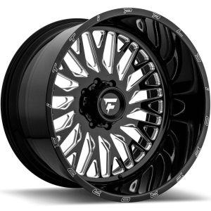 22x12 Fittipaldi Offroad Wheels FTF07 Alpha 6x135 -51 Offset 87.1 Hub Black Milled