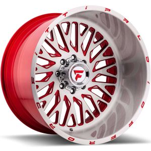 22x12 Fittipaldi Offroad Wheels FTF07 Alpha 5x5 -51 Offset 71.5 Hub Brushed Red
