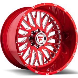 22x12 Fittipaldi Offroad Wheels FTF07 Alpha 5x5 -51 Offset 71.5 Hub Red Tint
