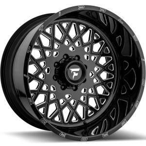 22x12 Fittipaldi Offroad Wheels FTF10 Alpha 5x5 -51 Offset 71.5 Hub Black Milled