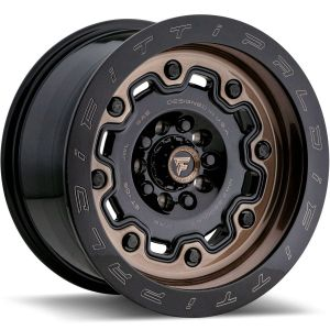 17x9 Fittipaldi Offroad Wheels FTF16 Alpha 5x5 / 5x130 -06 Offset 84.1 Hub Bronze