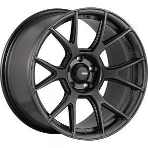 17x8 Konig Wheels 56MG Ampliform 4x100 +45 Offset 73.00 Hub Graphite