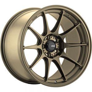 15x7.5 Konig Wheels 57B Dekagram 4x100 +35 Offset  Hub Bronze