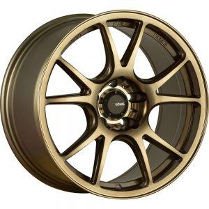 15x7.5 Konig Wheels 100BZ Freeform 4x100 +35 Offset 73.10 Hub Bronze