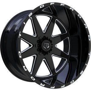 20x10 TIS Wheels 551BM 5x114.3 / 5x5 -25 Offset 78 Hub Gloss Black