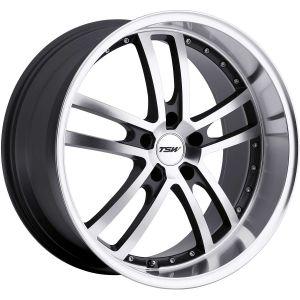 17x8 5x100 TSW Wheels Cadwell Gunmetal Mirror Cut Face/Lip 35 offset 72.1 hub