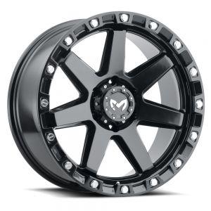 17x8.5 MKW Offroad Wheels M203 5x127 0et 78.1 Hub Satin Black
