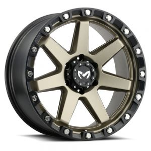 17x8.5 MKW Offroad Wheels M203 5x127 0et 78.1 Hub Matte Bronze