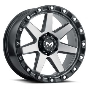 17x8.5 MKW Offroad Wheels M203 5x127 0et 78.1 Hub Matte Grey