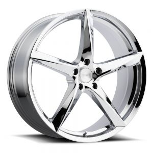 18x8 MKW Wheels M120 5x112 40et 73 Hub Chrome
