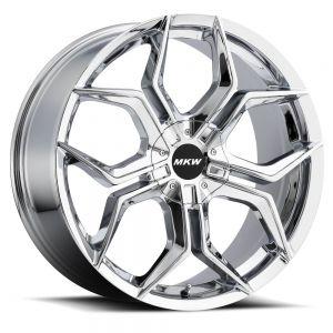 18x8 MKW Wheels M121 4x100/4x114.3 40et 73 Hub Chrome