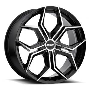18x8 MKW Wheels M121 4x100/4x114.3 40et 73 Hub Gloss Black Machined