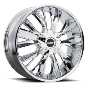 18x8 MKW Wheels M122 5x110/5x115 40et 73 Hub Chrome
