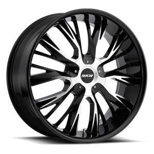 18x8 MKW Wheels M122 5x110/5x115 40et 73 Hub Gloss Black Machined